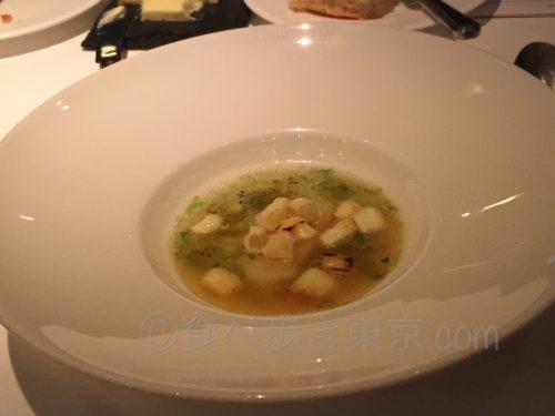 丸ビルレストラン「オザミトーキョー」のコース料理(スープ)