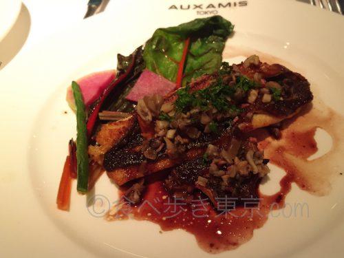 丸ビルレストラン「オザミトーキョー」のコース料理(メインの魚)