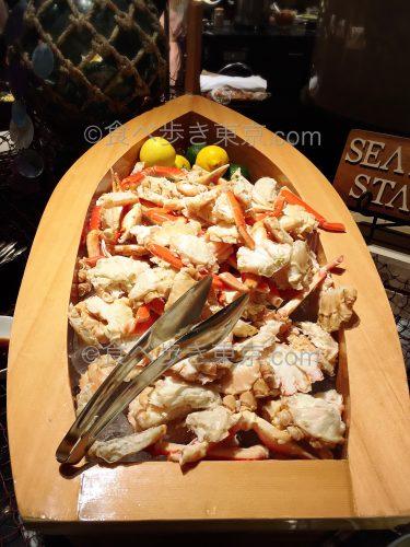 マーブルラウンジ ランチビュッフェの蟹