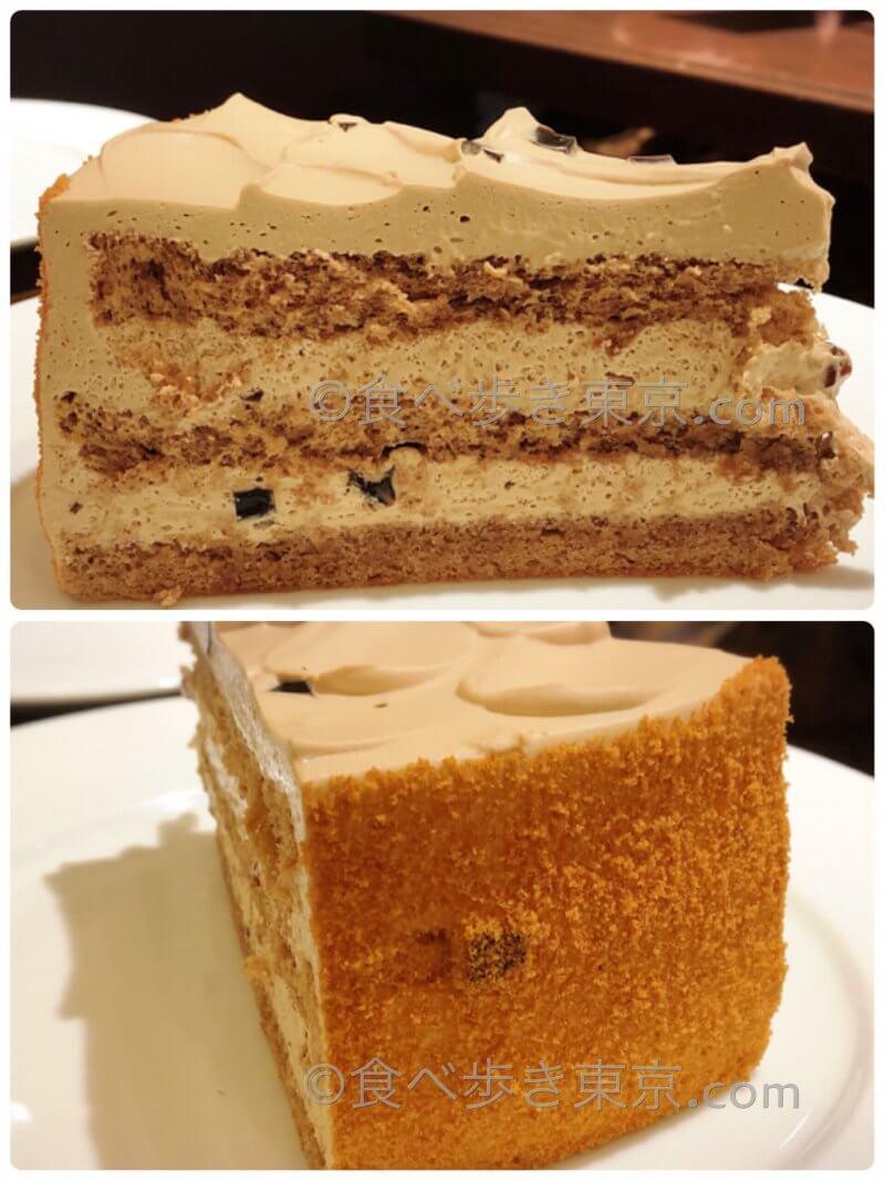 ハーブスのケーキ「モカケーキ」アップ