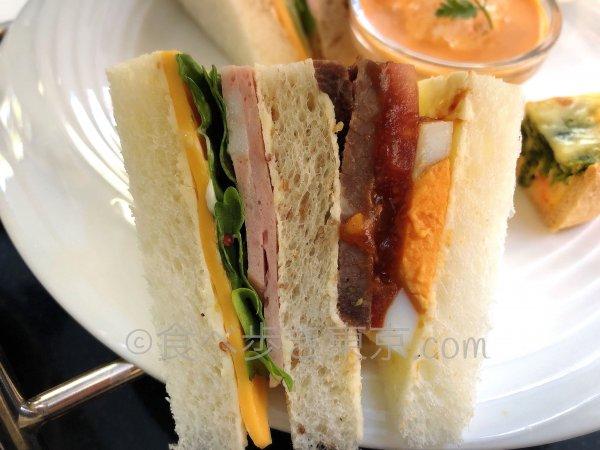 サンドウィッチのアップ