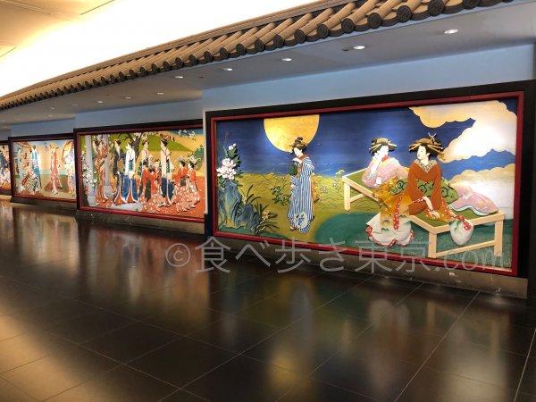 ホテル雅叙園東京の回路にある「彩色木版版」