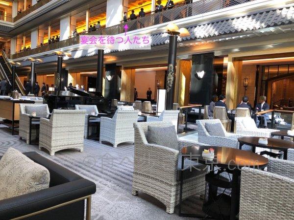 ホテル雅叙園東京「パンドラ」から宴会待ちの人が見える